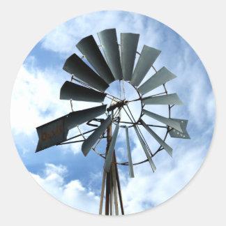 Alternative Energy - Pinwheel Windmill Power Classic Round Sticker