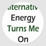 Alternative Energy Turns Me On Classic Round Sticker