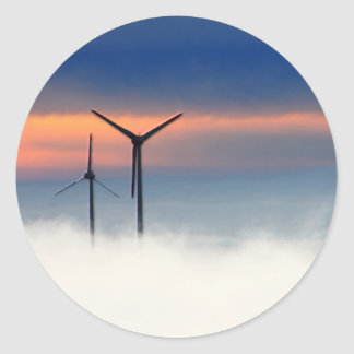 Alternative Energy - Wind Power in the Clouds Classic Round Sticker