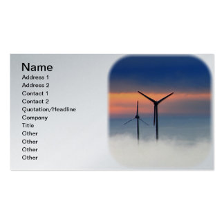 Alternative Energy - Wind Power in the Clouds Double-Sided Standard Business Cards (Pack Of 100)