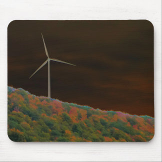 Alternative Energy Wind Turbine Fall Mousepad