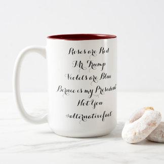 Alternative Fact: Bernie Is My President Two-Tone Coffee Mug
