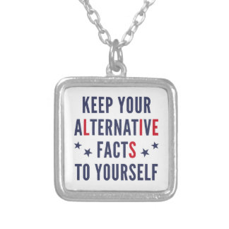 Alternative Facts Silver Plated Necklace
