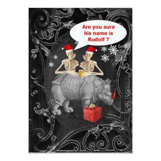 Alternative funny Gothic Christmas 5x7 Paper Invitation Card