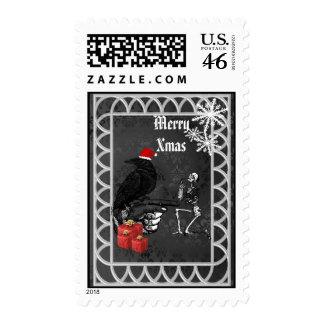 Alternative gothic christmas postage