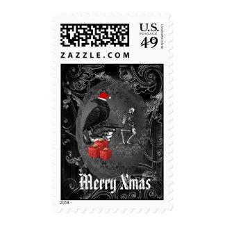 Alternative gothic christmas postage stamp
