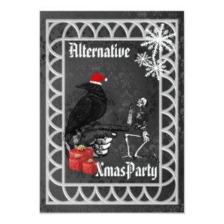 Alternative  Gothic Santa Christmas Card