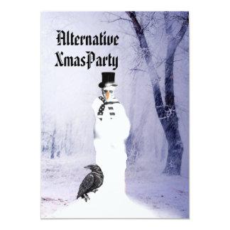 Alternative  Gothic Snowman Christmas Card