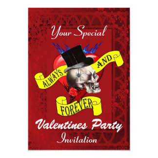 Alternative gothic tattoo Valentines party Card