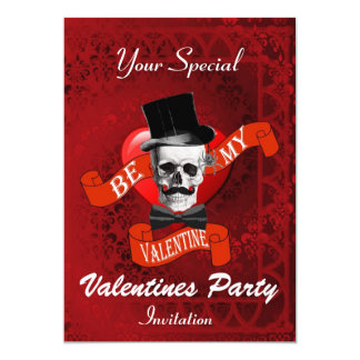 Alternative gothic Valentines party Card