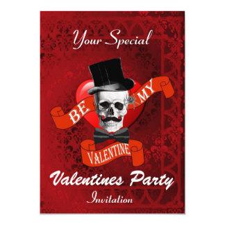 Alternative gothic Valentines party Card