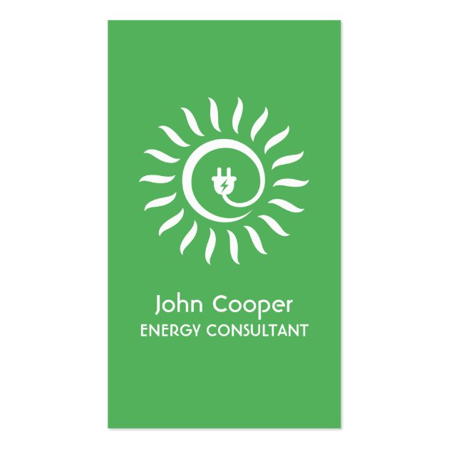 Alternative green energy consultant business card reheart Image collections