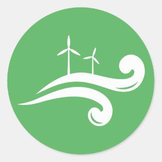 Alternative green energy wind power stickers
