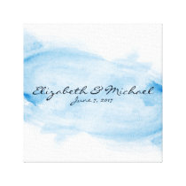 Alternative Guest Book Stretched Canvas Watercolor