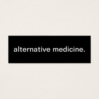 Alternative Medicine Business Card