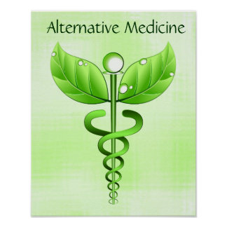 Alternative Medicine Caduceus Poster Print Print