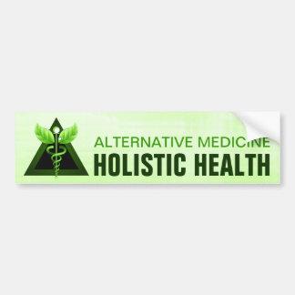 Alternative Medicine Green Caduceus Bumper Sticker Car Bumper Sticker