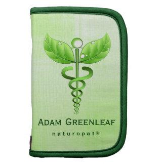Alternative Medicine Green Caduceus Folio Planner Organizer