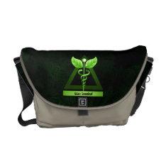Alternative Medicine Green Caduceus Medical Symbol Messenger Bag at Zazzle