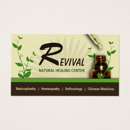 Homeopathy Bottle of Tincture and Dropper or Aromatherapy Essential Oil Alternative Medicine Business Cards