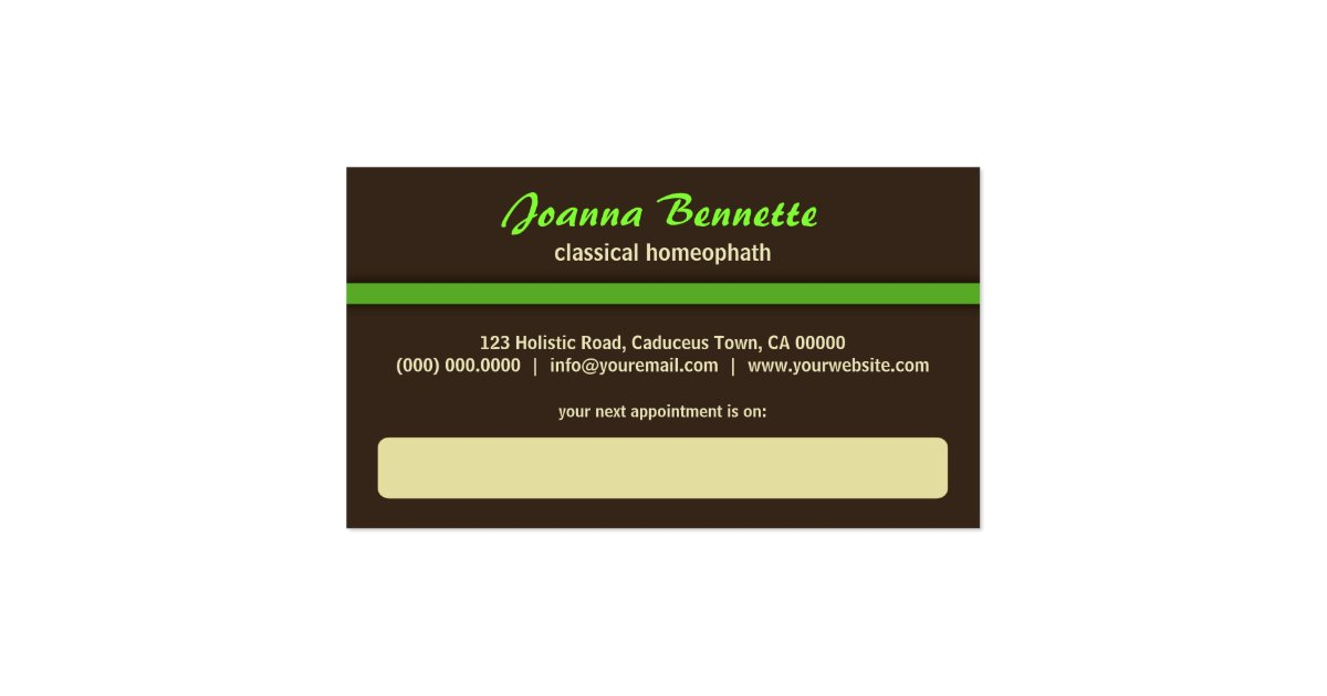 Alternative Medicine Homeopathy Business Cards