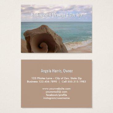 Beach Themed Alternative Medicine Reiki | Holistic Health Beach Business Card