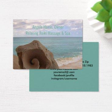 Beach Themed Alternative Medicine Reiki | Holistic Health Business Card