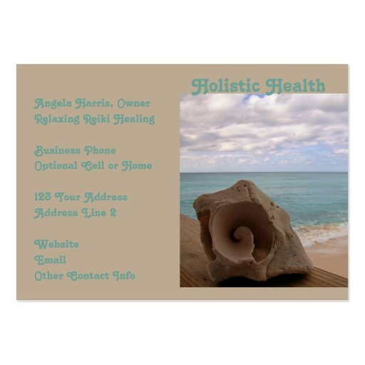 Alternative Medicine Reiki Holistic Health Business Cards