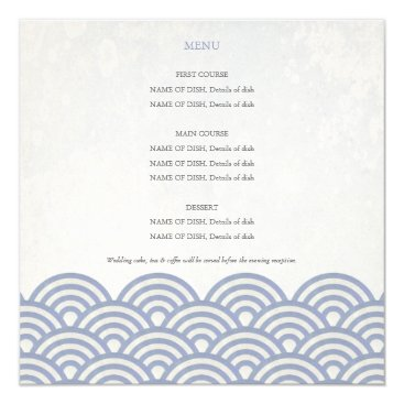 Beach Themed Alternative  Menu Card