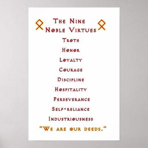 Alternative Nine Noble Virtues Poster