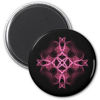 Alternative Pink Celtic Cross 2 Inch Round Magnet