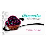 Alternative Retro Pink Cupcake Business Cards