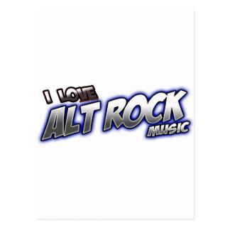 Alternative Rock I Love ALT ROCK Postcard