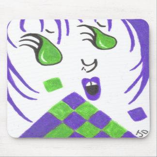 Alternative Rocker Girl Mouse Pad