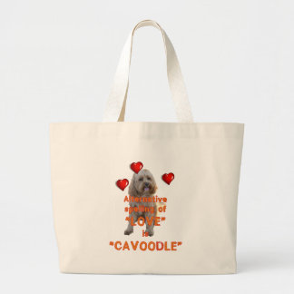 alternative spelling of LOVE is CAVOODLE Large Tote Bag
