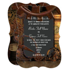Alternative steampunk wedding card