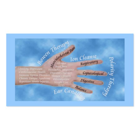 Hands That Heal Alternative Healing Therapies Business Cards