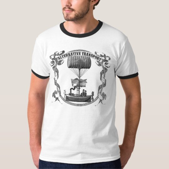 Alternative Transport Dirigible ringer T-Shirt