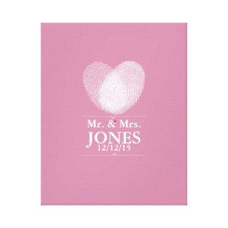 Alternative wedding guest book fingerprint heart