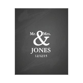 Alternative wedding guest book signing canvas canvas print