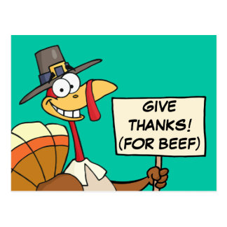 Alternatives to Turkey for Thanksgiving Dinner Postcard
