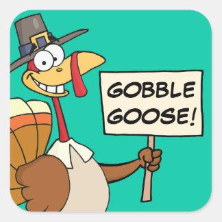 Alternatives to Turkey for Thanksgiving Dinner Square Sticker
