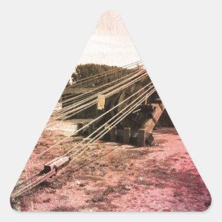 Altes Bild von irgendwas Pegatinas Trianguloes