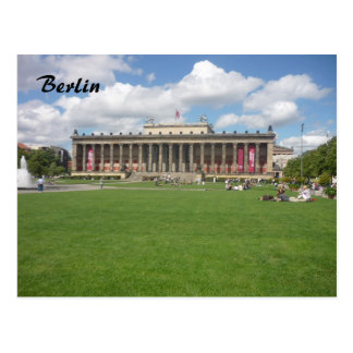 altes museum green postcard