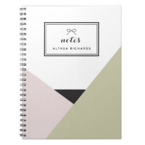 Althea Blush & Taupe Personalized Notebook