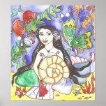 Althea Mermaid Art Poster