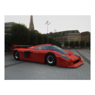 Althea X2 GTS Concept Car - RED -LARGE Poster