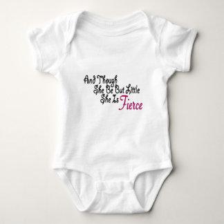 Although She Be But Little She Is Fierce Baby Bodysuit