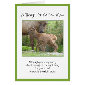 Although you may worry...For the New Mom Greeting Card