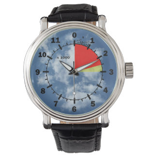 Altimeter in the clouds wrist watch
